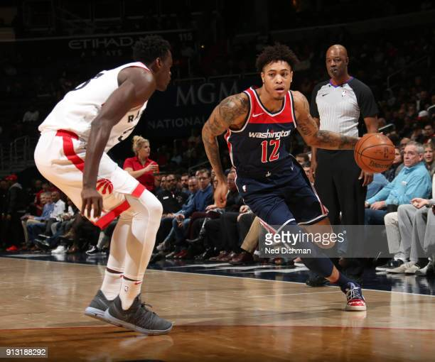 Kelly Oubre Jr #12 of the Washington Wizards handles the ball against the Toronto Raptors on February 1 2018 at Capital One Arena in Washington DC...