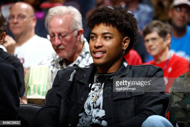 Kelly Oubre Jr #12 of the Washington Wizards is seen at the game between the Washington Mystics and the Minnesota Lynx in Game Three of the...