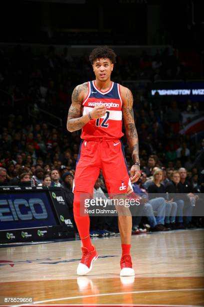 Kelly Oubre Jr #12 of the Washington Wizards looks on against the Miami Heat on November 17 2017 at Capital One Arena in Washington DC NOTE TO USER...