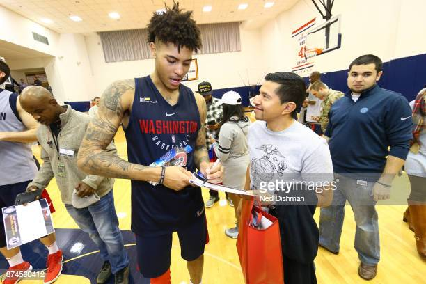 Kelly Oubre Jr #12 of the Washington Wizards participates in an open practice for military veterans on November 10 2017 in Washington DC NOTE TO USER...