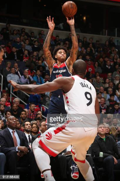 Kelly Oubre Jr #12 of the Washington Wizards shoots the ball against the Toronto Raptors on February 1 2018 at Capital One Arena in Washington DC...