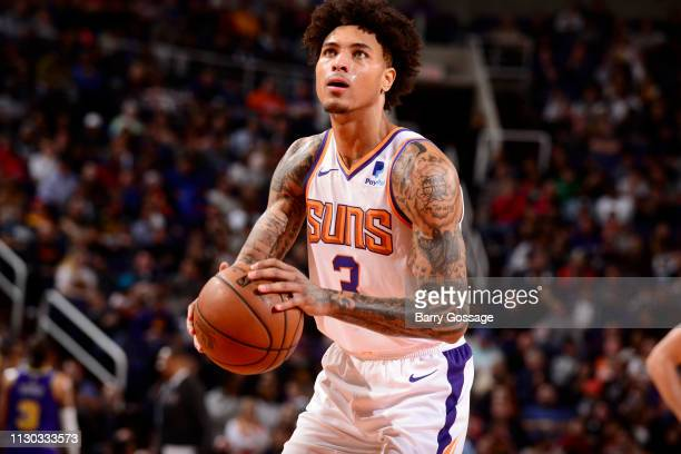 Kelly Oubre Jr #3 of the Phoenix Suns shoots a free throw against the Utah Jazz on March 13 2019 at Talking Stick Resort Arena in Phoenix Arizona...