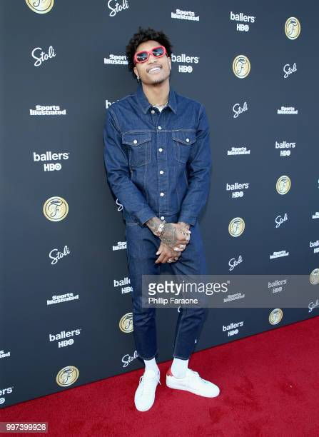 Kelly Oubre Jr attends SI Fashionable 50 Event on July 12 2018 in Los Angeles California