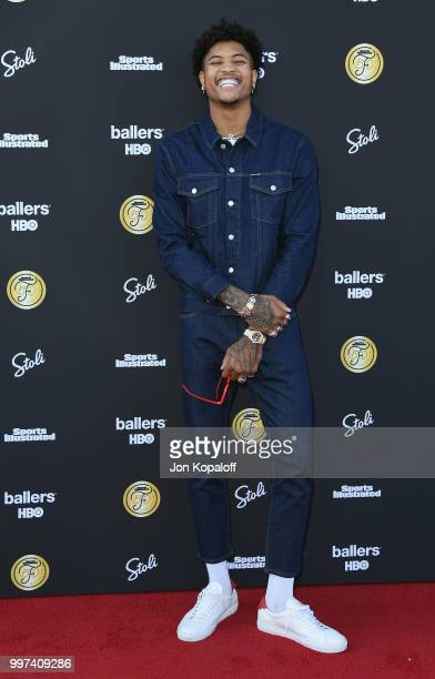 Kelly Oubre Jr attends Sports Illustrated Fashionable 50 at HYDE Sunset Kitchen Cocktails on July 12 2018 in West Hollywood California