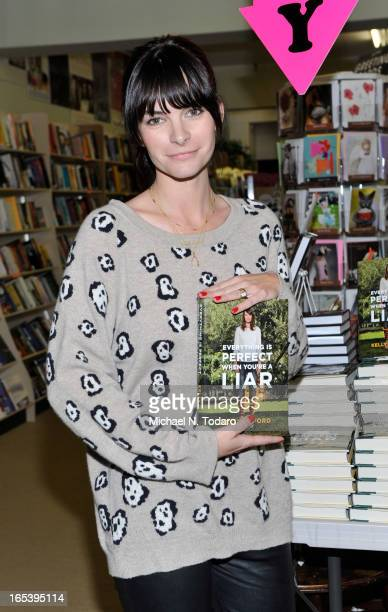 """Kelly Oxford attends Kelly Oxford Signs Copies Of Her Book """"Everything Is Perfect When You're A Liar"""" at Bookends on April 3, 2013 in Ridgewood, New..."""