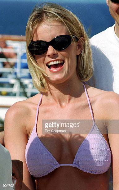 Kelly Packard of Baywatch on a Valentine's cruise on Grand Princess to the Caribbean with her husband Darrin Privett February 11 1999 Packard and...