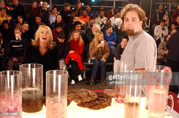 Kelly Packard with Doug who ate fish eyes rooster testicles pigs brains leeches maggots and cow pies for the Ripley's Believe it or Not TBS show...