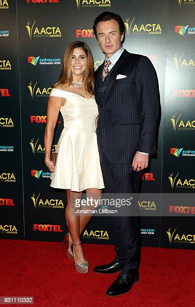 Kelly Paniagua and Actor Julian McMahon attends The 6th AACTA International Awards on January 6 2017 in Los Angeles California
