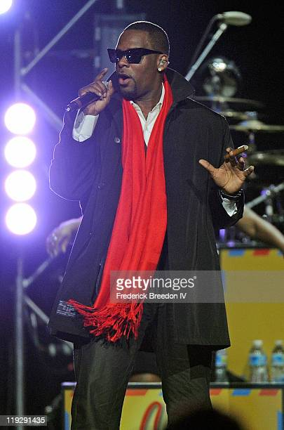 R Kelly performs at the Bridgestone Arena on July 14 2011 in Nashville Tennessee