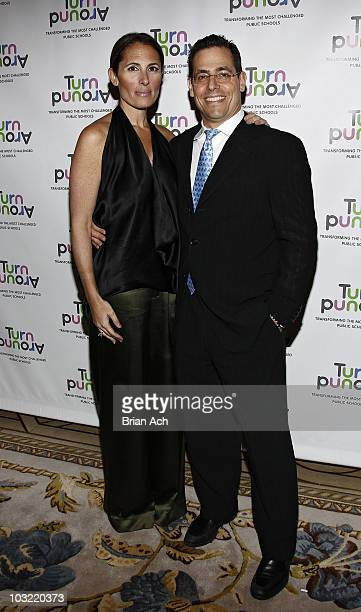 Kelly Posner Gerstenhaber and David Gerstenhaber attend the 2010 Turnaround For Children benefit dinner at The Plaza Hotel on April 13 2010 in New...
