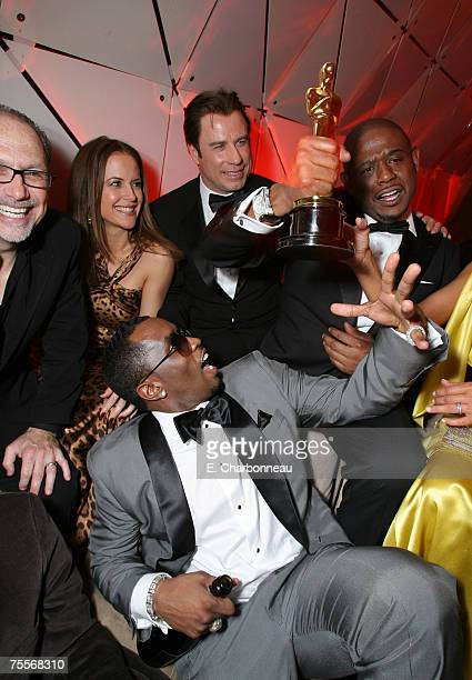 Kelly Preson John Travolta Forest Whitaker winner Best Actor in a Leading Role for The Last King of Scotland Keisha Whitaker and Sean Diddy Combs...