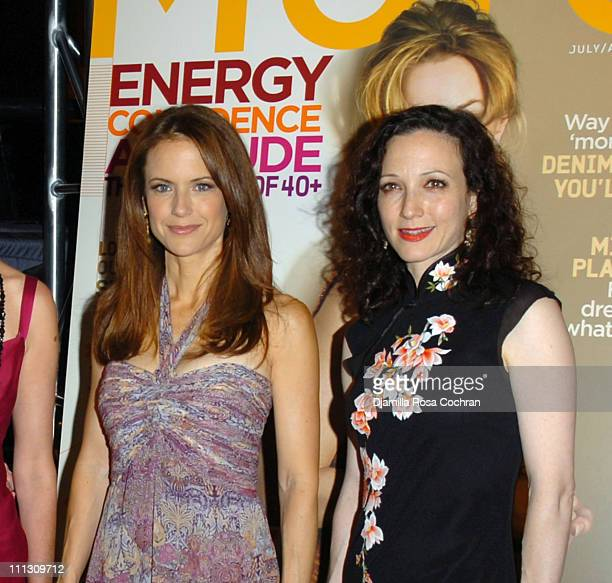 Kelly Preston and Bebe Neuwirth during The Winners of the 6th Annual More Magazine Wilhelmina 40 Model Search at Cipriani in New York City New York...