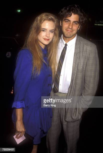 Kelly Preston and George Clooney at the Century Plaza Hotel in Los Angeles CA