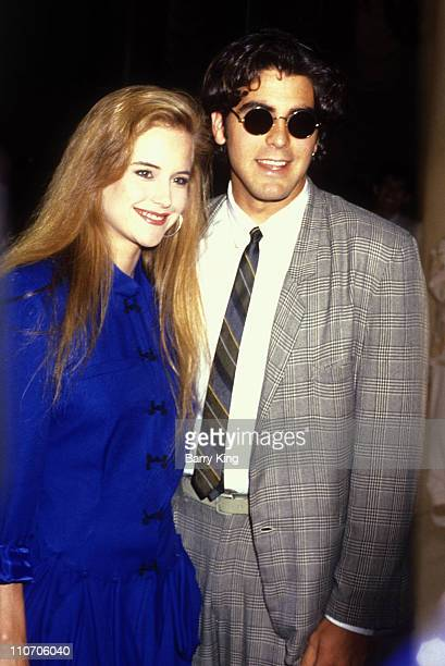 Kelly Preston and George Clooney during ABC TV Affiliates Fall Launch at Century Plaza Hotel in Los Angeles CA United States