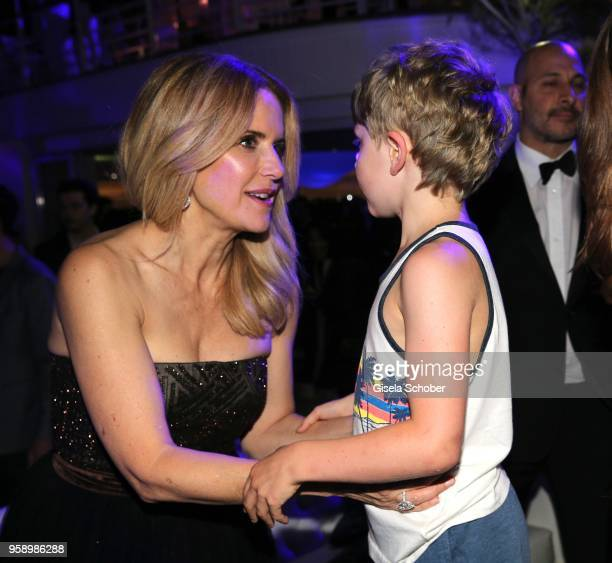 Kelly Preston and her son Banjamin Travolta during the party in Honour of John Travolta's receipt of the Inaugural Variety Cinema Icon Award during...