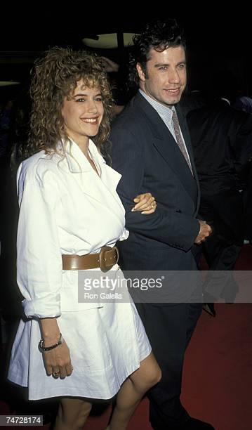 Kelly Preston and John Travolta at the Mann's National in Westwood California