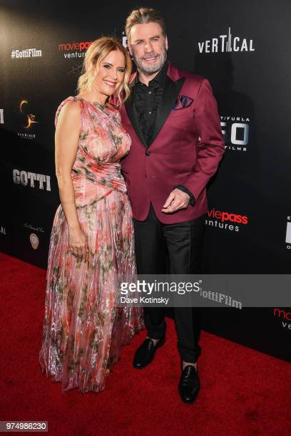 Kelly Preston and John Travolta attend the New York premiere of Gotti starring John Travolta in theaters June 15 2018 on June 14 2018