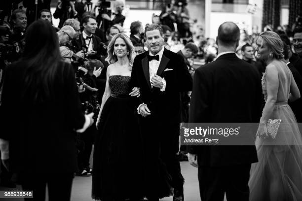 Kelly Preston and John Travolta attend the screening of Solo A Star Wars Story during the 71st annual Cannes Film Festival at Palais des Festivals on...