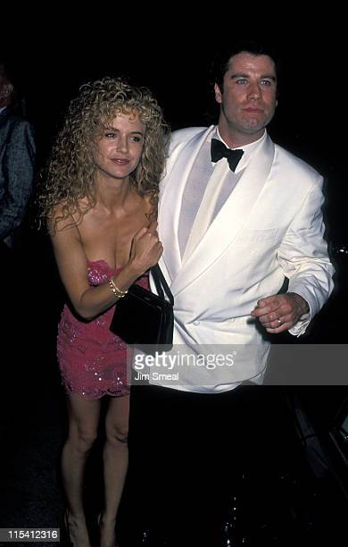 Kelly Preston and John Travolta during NAACP Salute to Eddie Murphy at Century Plaza Hotel in Los Angeles California United States