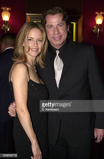Kelly Preston and John Travolta during 'Swordfish' New York Premiere at Ziegfeld Theatre in New York City New York United States