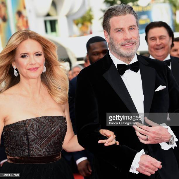 Kelly Preston and John Travolta of Gotti attend the red carpet screening of Solo A Star Wars Story during the 71st annual Cannes Film Festival at...