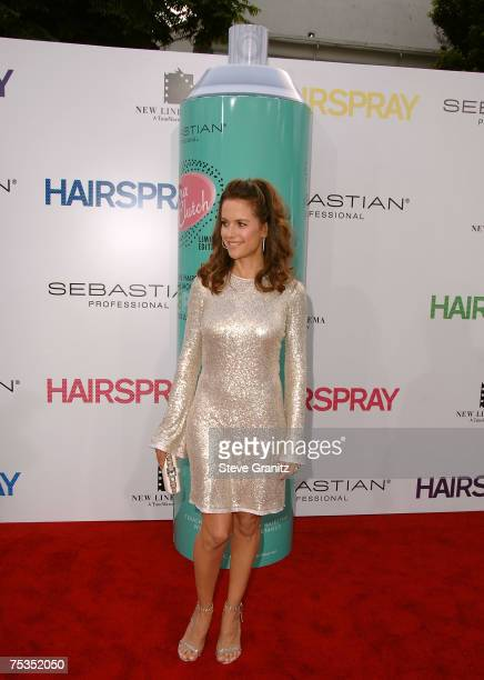 Kelly Preston arrives at the Hairspray premiere at The Village Mann Theatre on July 10 2007 in Westwood California
