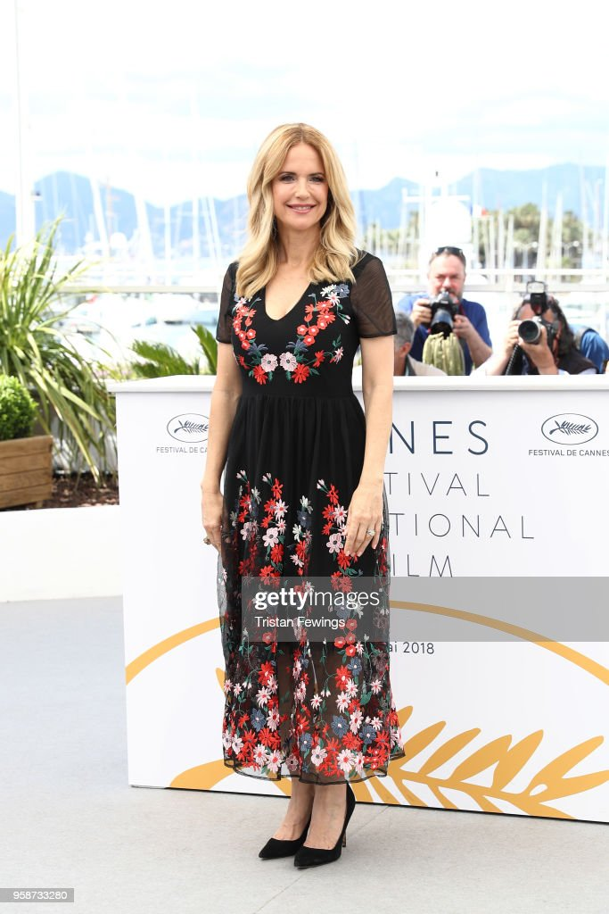 Kelly Preston attends 'Rendezvous With John Travolta - Gotti' Photocall during the 71st annual Cannes Film Festival at Palais des Festivals on May 15, 2018 in Cannes, France.