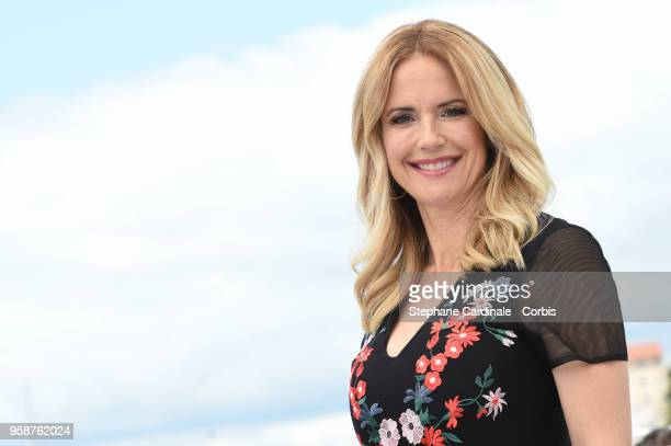 Kelly Preston attends Rendezvous With John Travolta Gotti Photocall during the 71st annual Cannes Film Festival at Palais des Festivals on May 15...