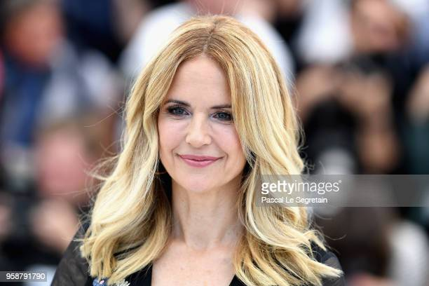 Kelly Preston attends the photocall for the Rendezvous With John Travolta Gotti during the 71st annual Cannes Film Festival at Palais des Festivals...