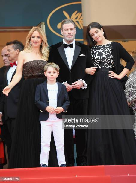 "Kelly Preston, Benjamin Travolta, John Travolta and Ella Bleu Travolta attend the screening of ""Solo: A Star Wars Story"" during the 71st annual..."