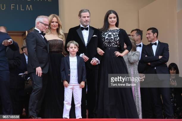 Kelly Preston Benjamin Travolta John Travolta and Ella Bleu Travolta attend the screening of Solo A Star Wars Story during the 71st annual Cannes...