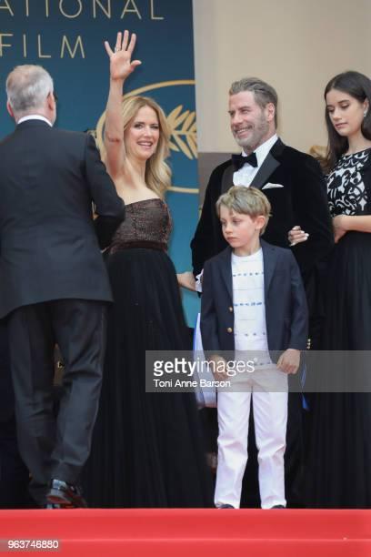 Kelly Preston Benjamin Travolta John Travolta and Ella Bleu Travolta attend the screening of Solo A Star Wars Story during the 71st annual Cannes...