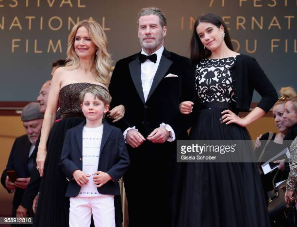 Kelly Preston Benjamin Travolta John Travolta and Ella Travolta attend the screening of Solo A Star Wars Story during the 71st annual Cannes Film...