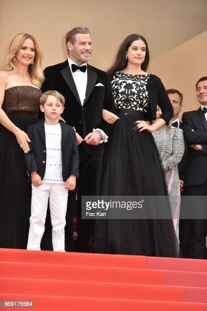 Kelly Preston Benjamin Travolta John Travolta and Ella Travolta attend the screening of 'Solo A Star Wars Story' during the 71st annual Cannes Film...
