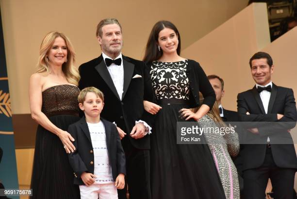 Kelly Preston Benjamin Travolta John Travolta and Ella Travolta attend the screening of 'Solo A Star Wars Story' during the 71st annual Cannes Film...