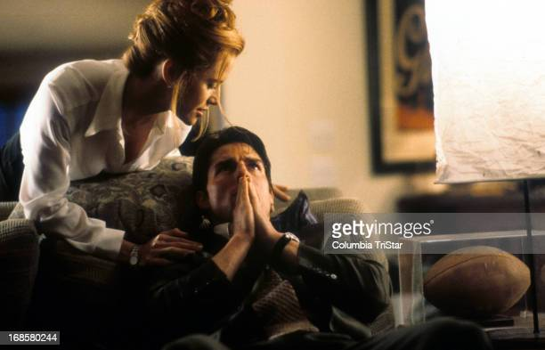 Kelly Preston comforts Tom Cruise in a scene from the film 'Jerry Maguire' 1996