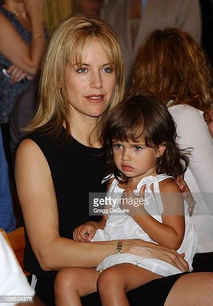 Kelly Preston daughter Ella Bleu during John Travolta Becomes Qantas Airlines AmbassadoratLarge at LAX Imperial Terminal in Los Angeles California...
