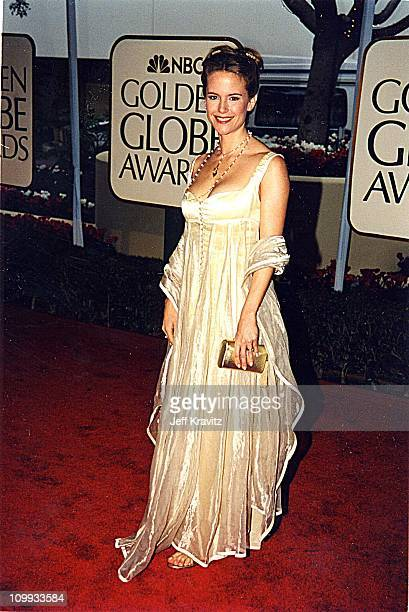 Kelly Preston during 1999 Golden Globe Awards in Los Angeles California United States