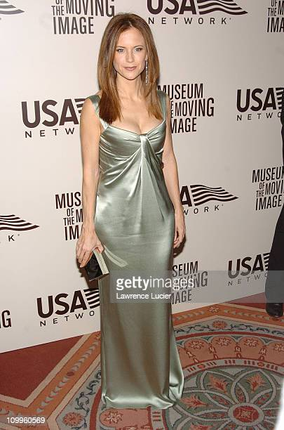 Kelly Preston during American Museum of the Moving Image Salute to John Travolta at Waldorf=Astoria in New York City New York United States