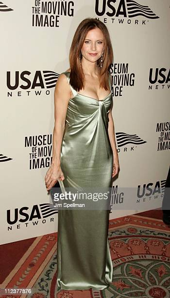 Kelly Preston during American Museum of the Moving Image Salute to John Travolta Arrivals at Waldorf Astoria in New York City New York