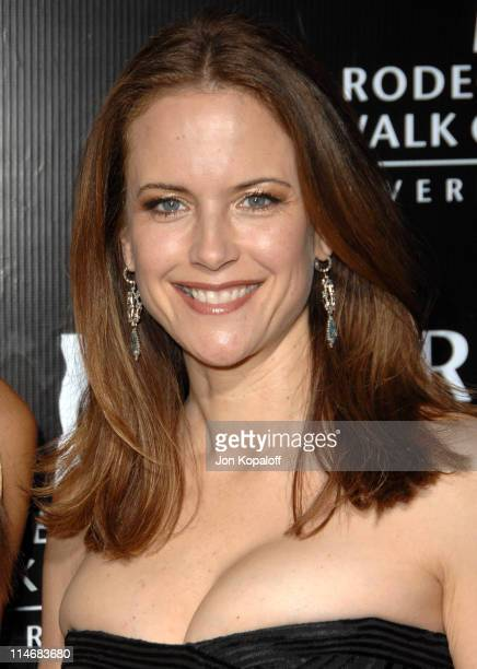 Kelly Preston during Gianni and Donatella Versace Receive The Rodeo Drive Walk of Style Award Arrivals at Beverly Hills City Hall in Beverly Hills...