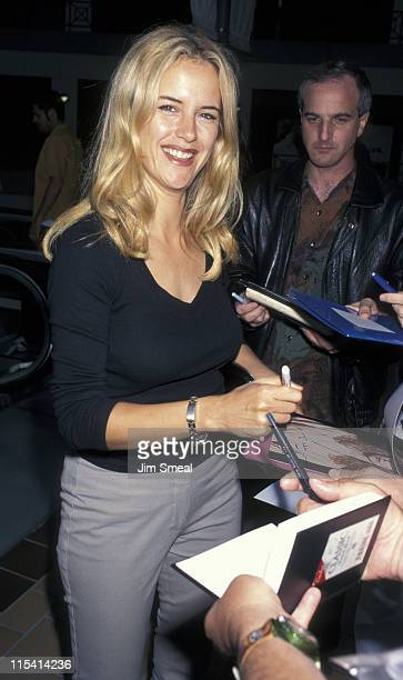 Kelly Preston during Kelly Preston Sighting at Lemle Sunset 5 Theatre June 26 1997 at Lemle Sunset 5 Theatre in Los Angeles California United States
