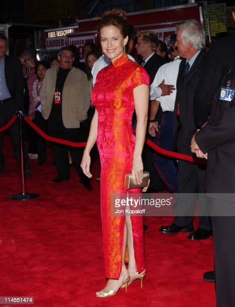 Kelly Preston during Ladder 49 Los Angeles Premiere Arrivals at El Capitan in Hollywood California United States