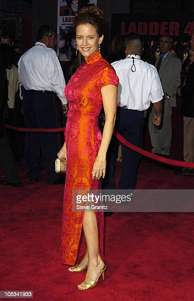 Kelly Preston during Ladder 49 World Premiere Arrivals at El Capitan Theatre in Hollywood California United States