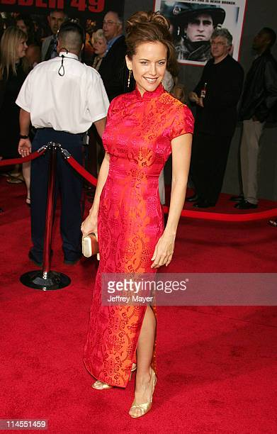 Kelly Preston during 'Ladder 49' World Premiere Arrivals at El Capitan Theatre in Hollywood California United States