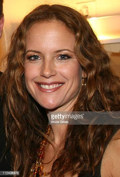 Kelly Preston during Stars Backstage at Chicago on Broadway Starring Rita Wilson at The Ambassador Theater in New York New York United States