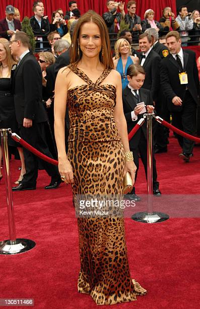 Kelly Preston during The 79th Annual Academy Awards Arrivals at Kodak Theatre in Los Angeles California United States
