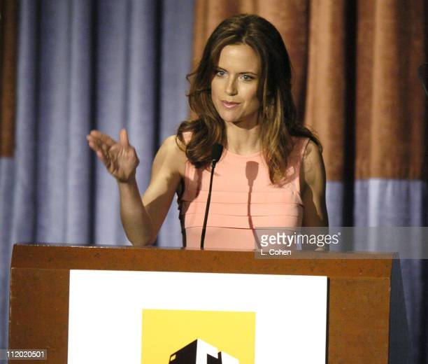 Kelly Preston during The 8th Annual Hollywood Film Festival Awards Ceremony Show at The Beverly Hilton Hotel in Beverly Hills California United States
