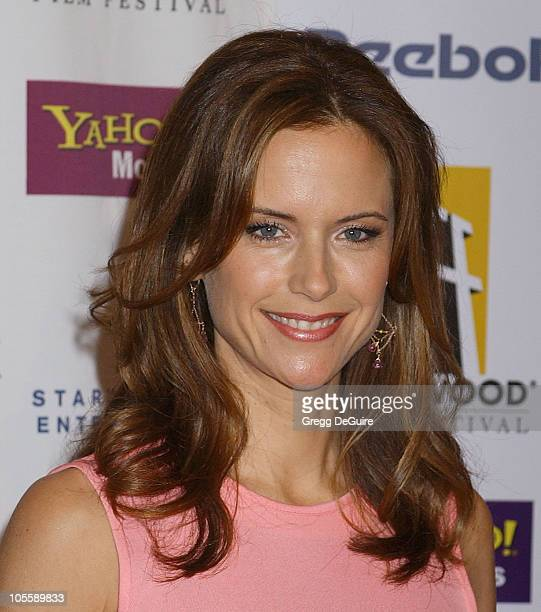 Kelly Preston during The 8th Annual Hollywood Film Festival Hollywood Awards Gala Arrivals at Beverly Hilton Hotel in Beverly Hills California United...