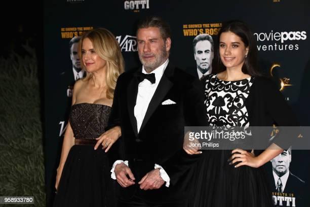 Kelly Preston, John Travolta and Ella Bleu Travolta attend a party in Honour of John Travolta's receipt of the Inaugural Variety Cinema Icon Award...